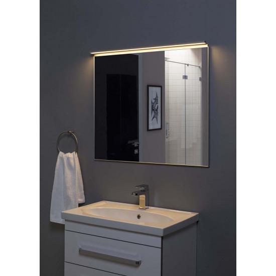 Зеркало в алюминиевой раме Сильвер 100х75 Серебро в интернет-магазине ROSESTAR фото