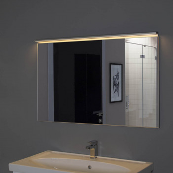 Зеркало в алюминиевой раме Сильвер 140х75 Серебро
