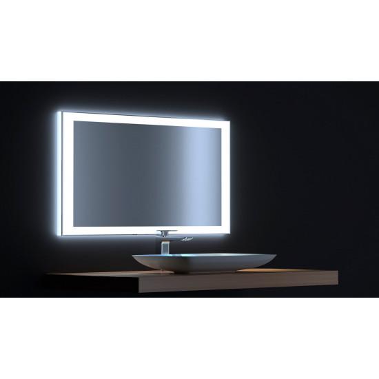 Зеркало с сенсорной LED подсветкой Сити 100х75 в интернет-магазине ROSESTAR фото