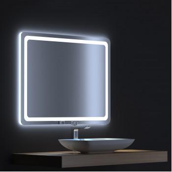 Зеркало с сенсорной LED подсветкой Смарт 80х75