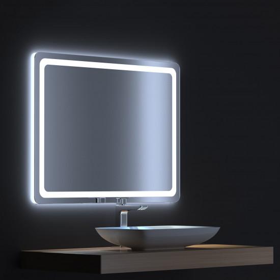 Зеркало с сенсорной LED подсветкой Смарт 80х75 в интернет-магазине ROSESTAR фото
