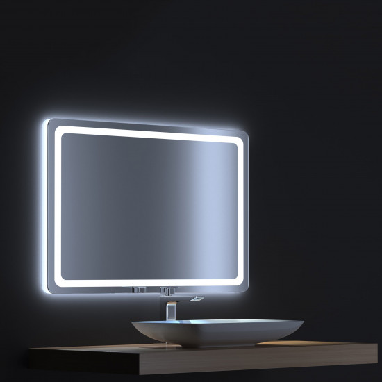 Зеркало с сенсорной LED подсветкой Смарт 100х75 в интернет-магазине ROSESTAR фото