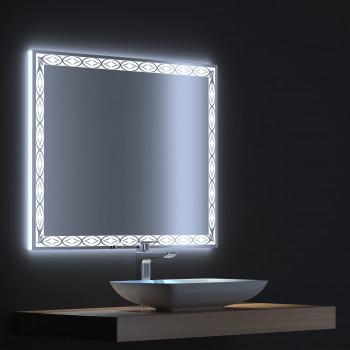 Зеркало с LED подсветкой Тренд 70х75