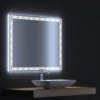 Зеркало с LED подсветкой Тренд 80х75