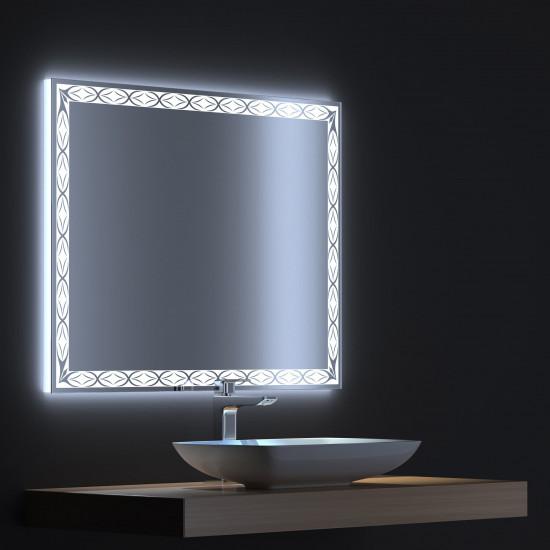 Зеркало с LED подсветкой Тренд 80х75 в интернет-магазине ROSESTAR фото