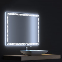 Зеркало с LED подсветкой Тренд 90х75