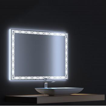 Зеркало с сенсорной LED подсветкой Тренд 100х75