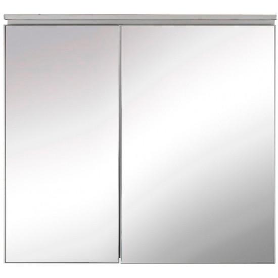 Зеркальный шкаф в ванную навесной с подсветкой «Алюминиум» 80 в интернет-магазине ROSESTAR фото