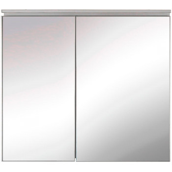 Зеркальный шкаф в ванную навесной с подсветкой «Алюминиум» 90