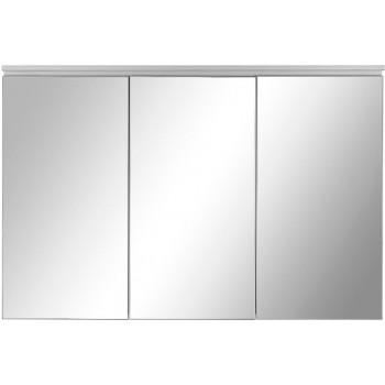 Зеркальный шкаф в ванную навесной с подсветкой «Алюминиум» 120