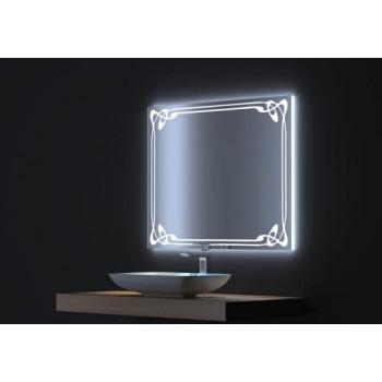 Зеркало с LED подсветкой Джаз 80х75