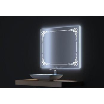 Зеркало с LED подсветкой Капри 80х75