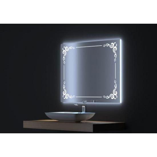Зеркало с LED подсветкой Капри 80х75 в интернет-магазине ROSESTAR фото