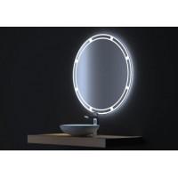 Овальное зеркало с сенсорной LED подсветкой Омега 80х80