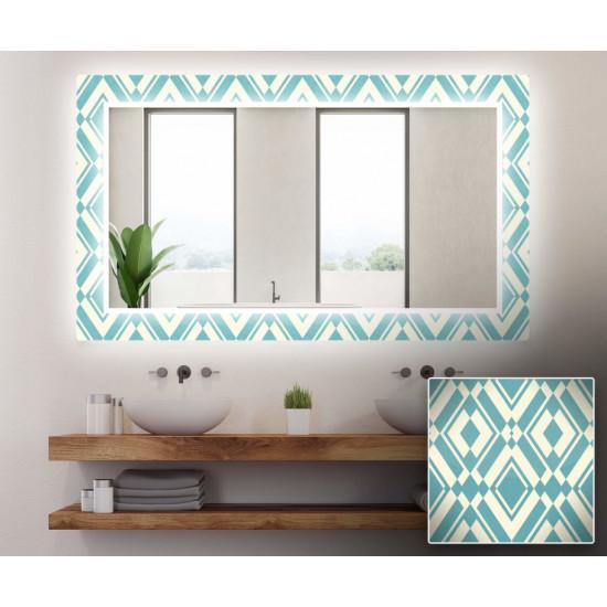Зеркало с подсветкой Декор 01 в интернет-магазине ROSESTAR фото