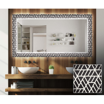 Зеркало с подсветкой Декор 17