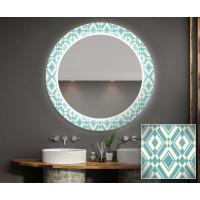 Круглое зеркало с подсветкой Декор 02