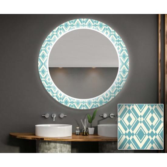 Круглое зеркало с подсветкой Декор 02 в интернет-магазине ROSESTAR фото