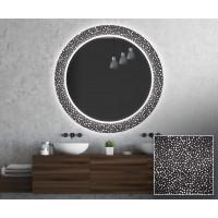 Круглое зеркало с подсветкой Декор 20