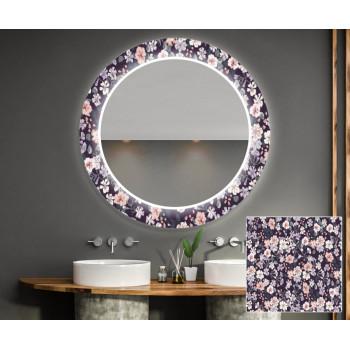 Круглое зеркало с подсветкой Декор 21