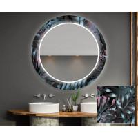 Круглое зеркало с подсветкой Декор 23