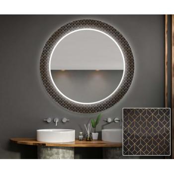 Круглое зеркало с подсветкой Декор 24