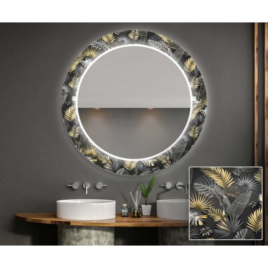 Круглое зеркало с подсветкой Декор 25 в интернет-магазине ROSESTAR фото