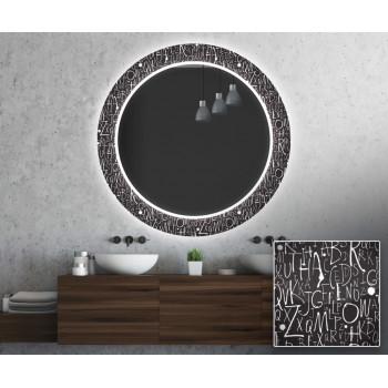 Круглое зеркало с подсветкой Декор 26