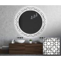 Круглое зеркало с подсветкой Декор 27