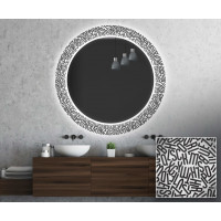 Круглое зеркало с подсветкой Декор 28