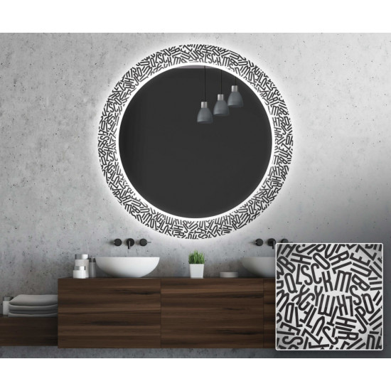 Круглое зеркало с подсветкой Декор 28 в интернет-магазине ROSESTAR фото