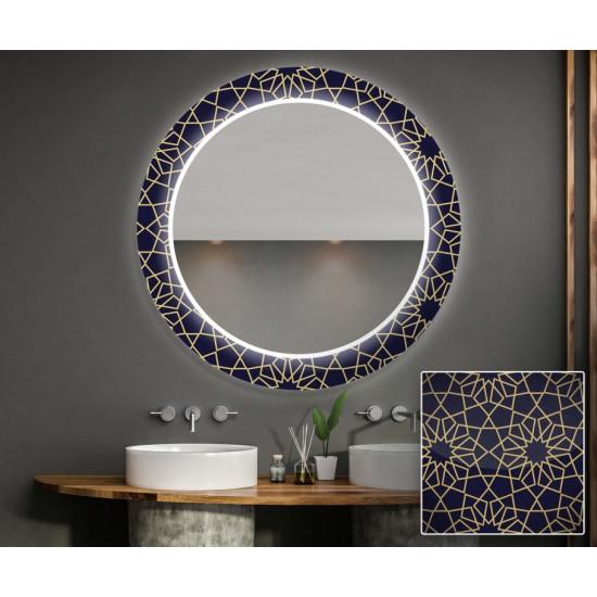 Круглое зеркало с подсветкой Декор 31 в интернет-магазине ROSESTAR фото