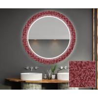 Круглое зеркало с подсветкой Декор 32