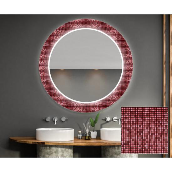 Круглое зеркало с подсветкой Декор 32 в интернет-магазине ROSESTAR фото