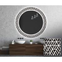 Круглое зеркало с подсветкой Декор 33