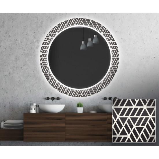 Круглое зеркало с подсветкой Декор 33 в интернет-магазине ROSESTAR фото