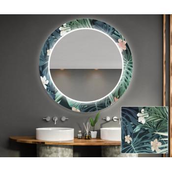Круглое зеркало с подсветкой Декор 34