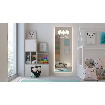 Зеркало для детской комнаты с подсветкой Супергерой