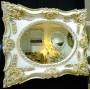 Дизайнерское зеркало в интерьерной раме «Империал» Слоновая кость с золотом в интернет-магазине ROSESTAR фото 1