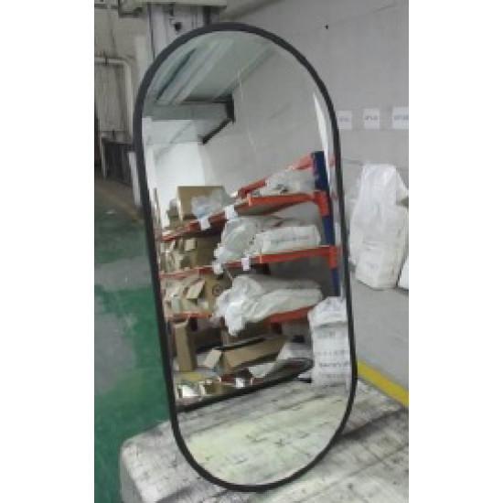 Овальное декоративное зеркало в черной раме KFG083 в интернет-магазине ROSESTAR фото