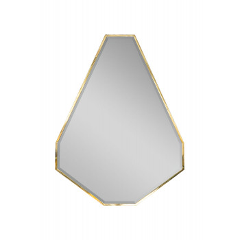 Зеркало в металлической золотой раме KFG088
