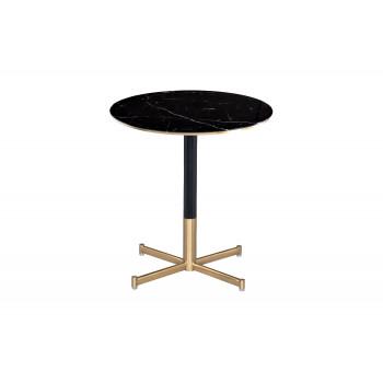 Барный стол мраморное стекло/черный метал 46AS-BT5345-BL