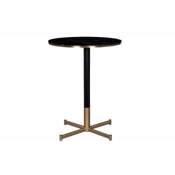Барный стол мраморное стекло/черный метал 46AS-HT5341-BL