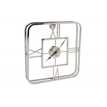Часы настенные металлические квадратные хром 94PR-22354