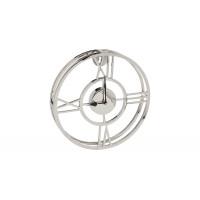 Часы настенные металлические круглые хром 94PR-22355