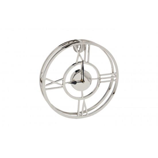 Часы настенные металлические круглые хром 94PR-22355 в интернет-магазине ROSESTAR фото