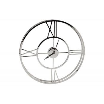 Часы настенные металлические круглые хром 94PR-22072