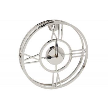 Часы настенные металлические круглые хром 94PR-22153