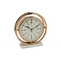 Часы настольные круглые на подставке цвет шампань 79MAL-5789-27G