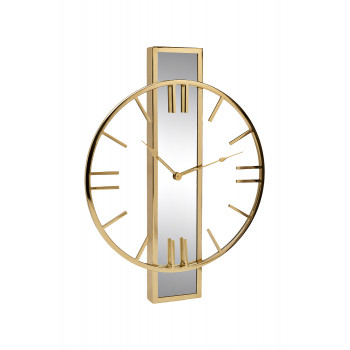 Часы настенные с зеркальной планкой золотые 79MAL-5821-61G